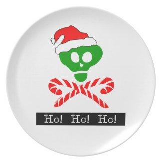 Ho Ho Ho Holiday Dish Party Plate