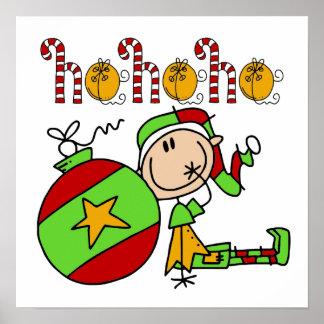 Ho Ho Ho Holiday Elf Posters