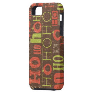 Ho Ho Ho Holiday Pattern iPhone 5 Covers