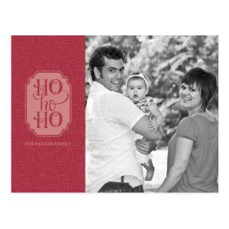 Ho Ho Ho Holiday Photo Postcard