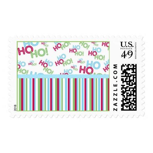 Ho Ho Ho Holiday Postage Stamps