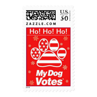 Ho! Ho! Ho! Holiday Stamps From My Dog Votes