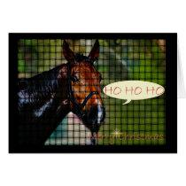 HO HO HO HORSE CHRISTMAS Xmas horse Card