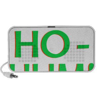 Ho-Ho-Ho-Hum Green Logo Travelling Speaker
