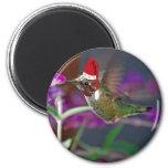 Ho Ho Ho Hummingbird 2 Inch Round Magnet