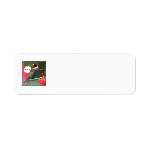 Ho Ho Ho Hummingbird Custom Return Address Labels