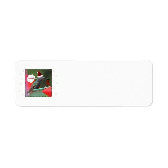 Ho Ho Ho Hummingbird Label