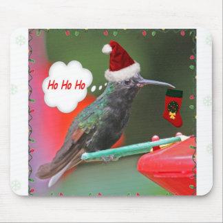 Ho Ho Ho Hummingbird Mouse Pad