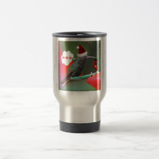 Ho Ho Ho Hummingbird 15 Oz Stainless Steel Travel Mug