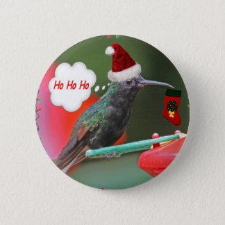 Ho Ho Ho Hummingbird Pinback Button