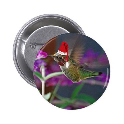 Ho Ho Ho Hummingbird Pinback Buttons