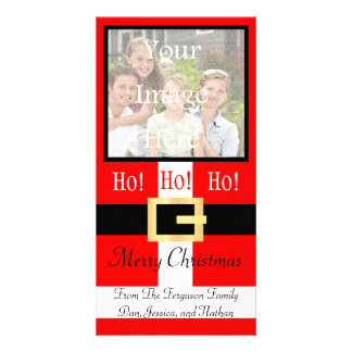 Ho ho ho juego Photocard de Santa de las Felices N Tarjeta Personal Con Foto