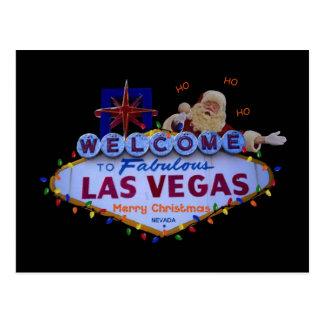 HO HO HO Las Vegas Merry Christmas SANTA Postcard