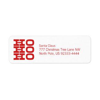 Ho Ho Ho (letterpress style) Label