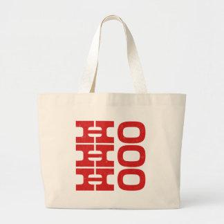 Ho Ho Ho (letterpress style) Large Tote Bag