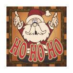 Ho Ho Ho lona de Papá Noel del día de fiesta Impresión En Lona