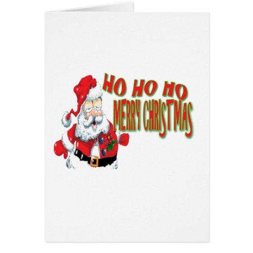 ho ho ho merry christmans greeting card