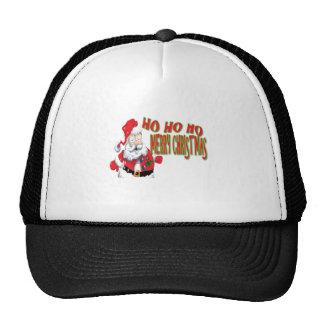 ho ho ho merry christmans mesh hats