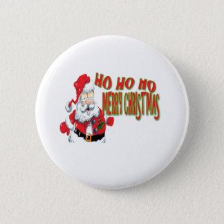 ho ho ho merry christmans pinback button