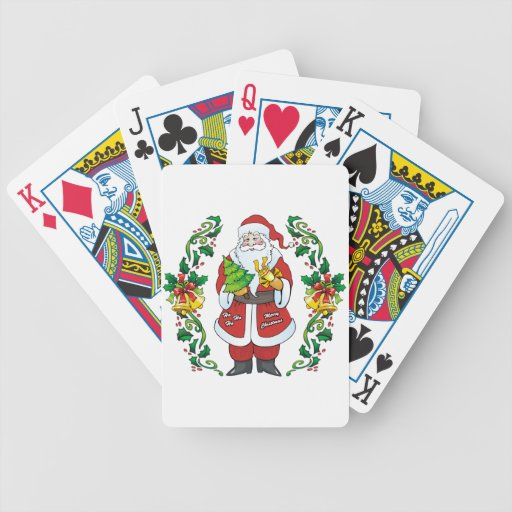 Ho Ho Ho Merry Christmas Bicycle Playing Cards