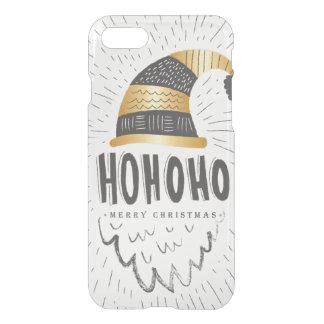 Ho Ho Ho Merry Christmas Black & Gold Hand Drawn iPhone 7 Case