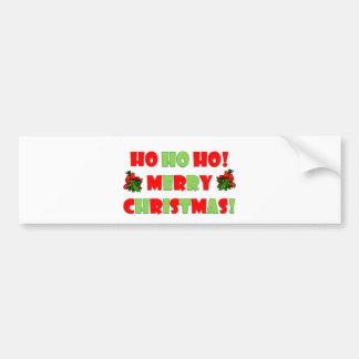 Ho Ho Ho Merry Christmas Bumper Sticker