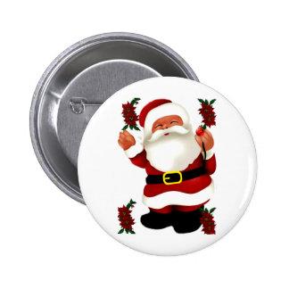 Ho Ho Ho Merry Christmas_ Pinback Button
