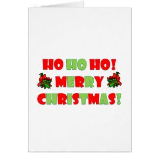 Ho Ho Ho Merry Christmas Card