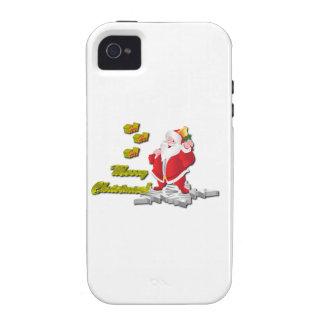 Ho! Ho! Ho! Merry Christmas Case-Mate iPhone 4 Cover