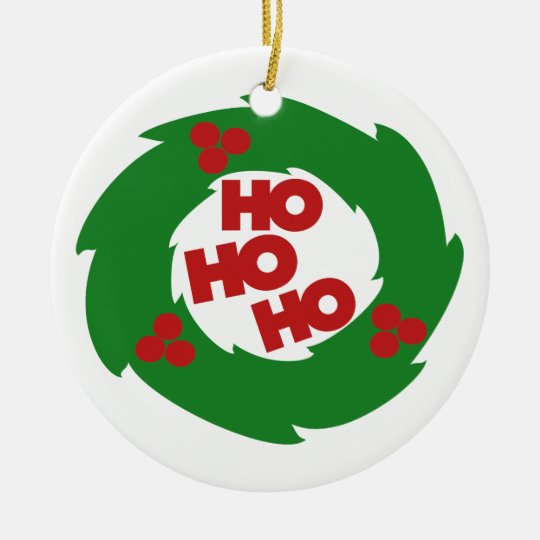 Ho Ho Ho Merry Christmas Ceramic Ornament