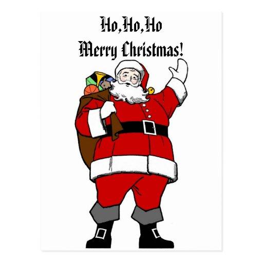 Ho,Ho,Ho Merry Christmas! - Christmas Postcard