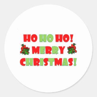 Ho Ho Ho Merry Christmas Classic Round Sticker