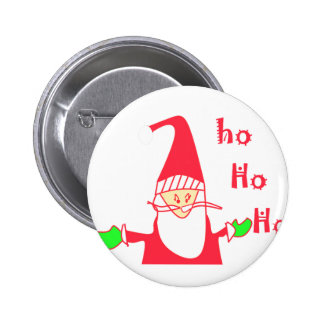Ho Ho Ho Merry Christmas From Santa.png 2 Inch Round Button