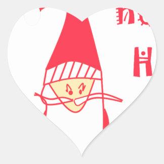 Ho Ho Ho Merry Christmas From Santa.png Heart Sticker