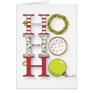 Ho Ho Ho Merry Christmas & Happy Holidays Card