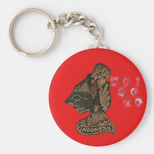 Ho Ho Ho! Merry Christmas Indonesia cute retro vin Key Chains