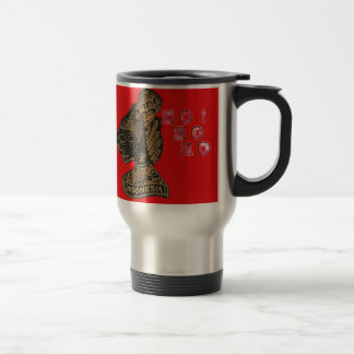Ho Ho Ho! Merry Christmas Indonesia cute retro vin Travel Mug