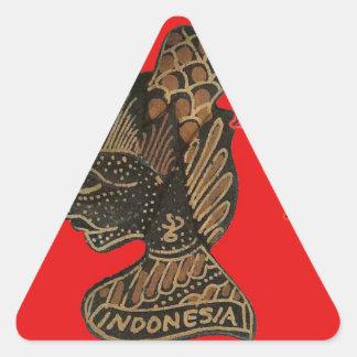 Ho Ho Ho! Merry Christmas Indonesia cute retro vin Triangle Sticker