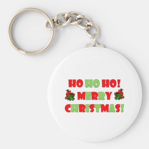 Ho Ho Ho Merry Christmas Key Chains