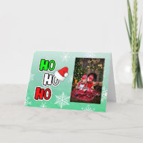 Ho HO HO Merry Christmas Personalized Custom Card