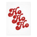 Ho Ho Ho Merry Christmas Personalized Invitations