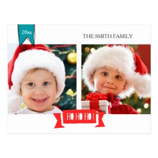 HO HO HO Merry Christmas photo post card