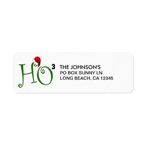 Ho Ho Ho!  Merry Christmas Return Address Labels