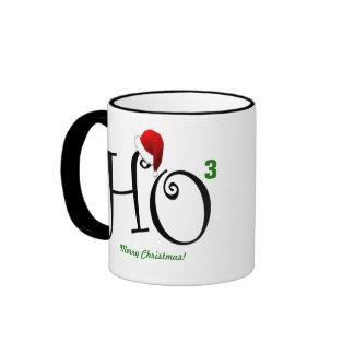 Ho Ho Ho Merry Christmas! Ringer Coffee Mug
