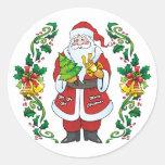 Ho Ho Ho Merry Christmas Round Sticker