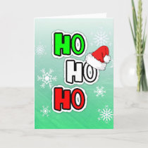 Ho HO HO Merry Christmas Santa Claus Custom Card