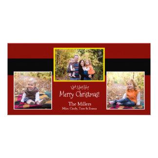 Ho Ho Ho! Merry Christmas Santa Suit Photo Card