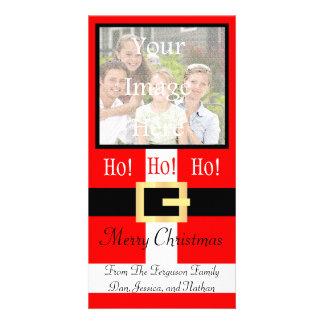 Ho ho ho Merry Christmas Santa Suit Photocard Card
