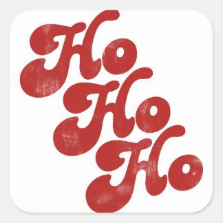 Ho Ho Ho Merry Christmas Square Sticker