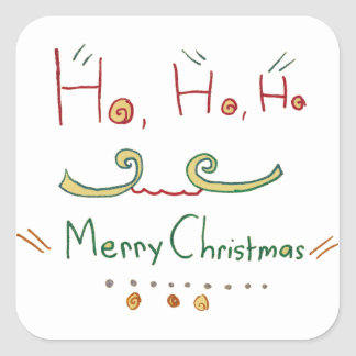 HO HO HO Merry Christmas Sticker